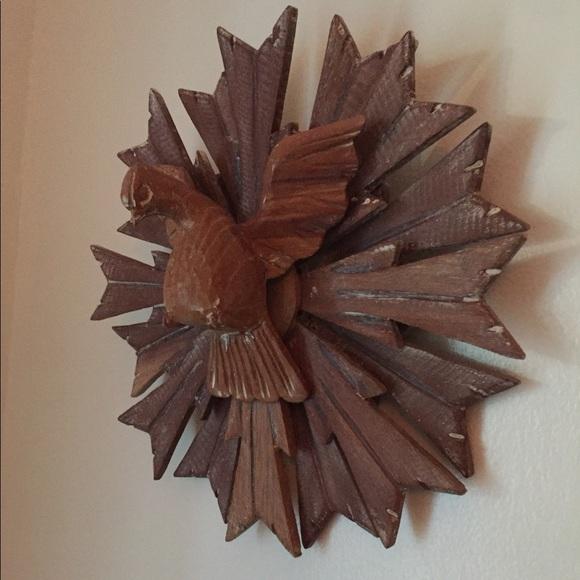 Brazilian Wood Dove Holy Spirit Wall Sculpture